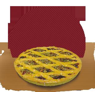 fornitura crostata visciole e frutta secca